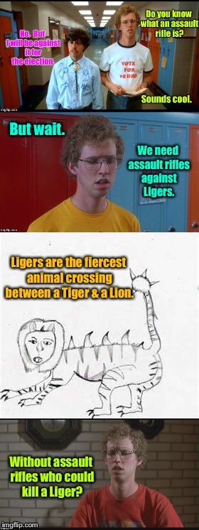 Pedro & Napoleon leading the school age protestors without understanding | . | image tagged in memes,school protests,ignorance of ar-15,napoleon dynamite,pedro,liger | made w/ Imgflip meme maker