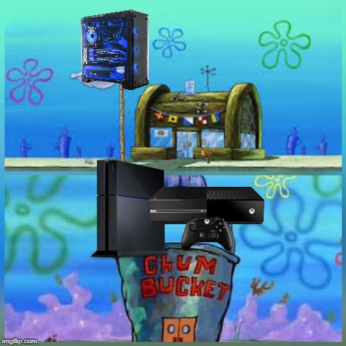 Krusty Krab Vs Chum Bucket Meme | image tagged in krusty krab vs chum bucket | made w/ Imgflip meme maker