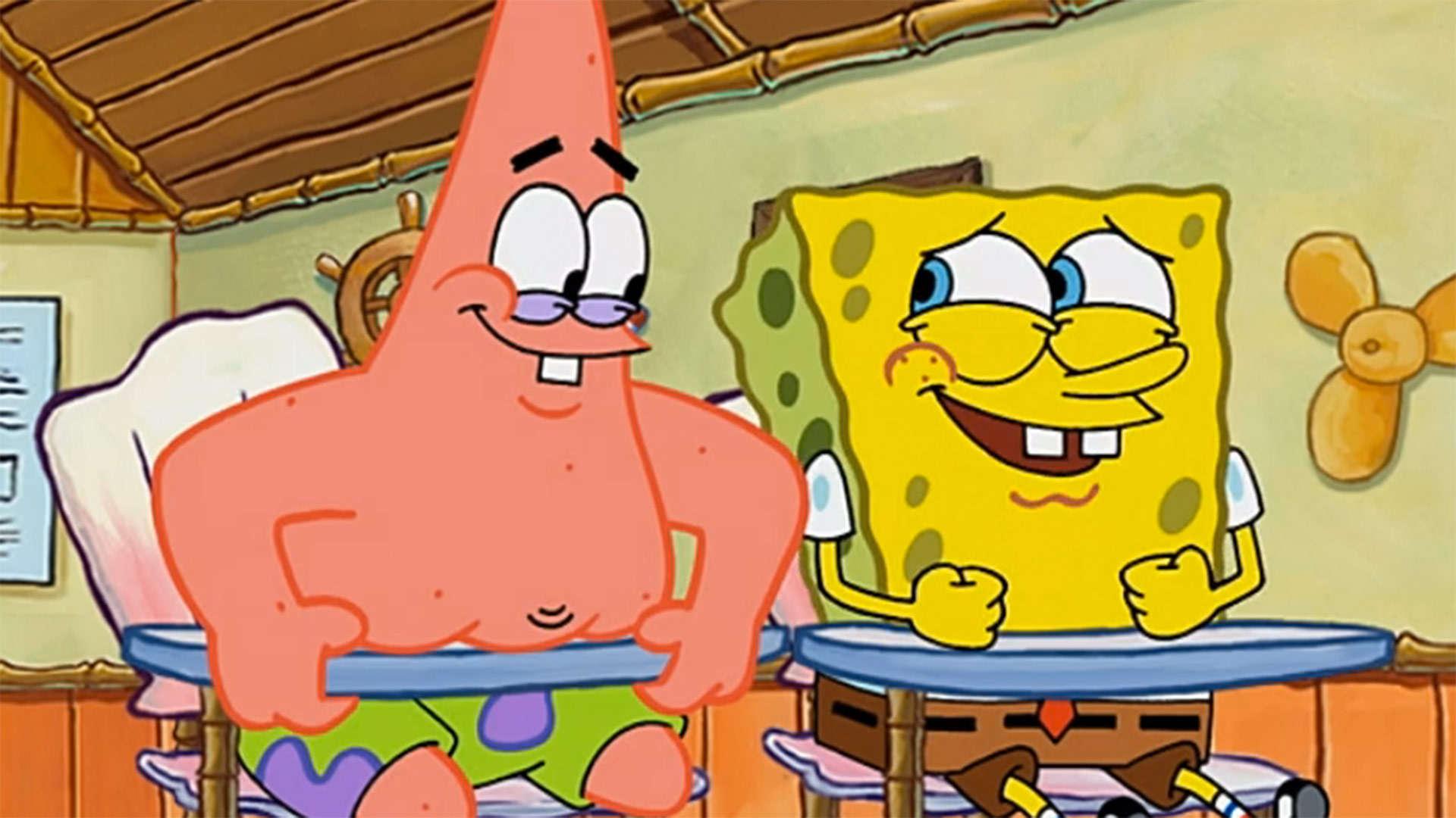Spongebob and patrick humor meme template