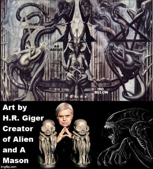 H.R. Giger | image tagged in alien | made w/ Imgflip meme maker