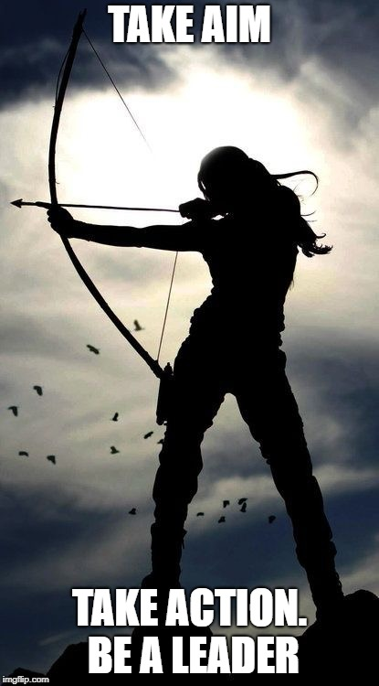 Archery | TAKE AIM TAKE ACTION. BE A LEADER | image tagged in archery | made w/ Imgflip meme maker