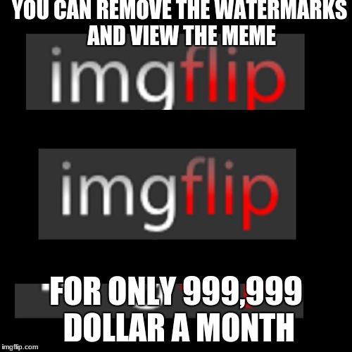 If imgflip was from EA | YOU CAN REMOVE THE WATERMARKS AND VIEW THE MEME FOR ONLY 999,999 DOLLAR A MONTH | image tagged in y u no | made w/ Imgflip meme maker