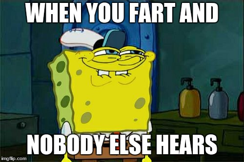 Dont You Squidward Meme | WHEN YOU FART AND NOBODY ELSE HEARS | image tagged in memes,dont you squidward | made w/ Imgflip meme maker