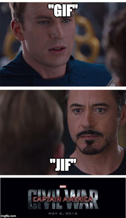 "How do you pronounce .gif? | ""GIF"" ""JIF"" 