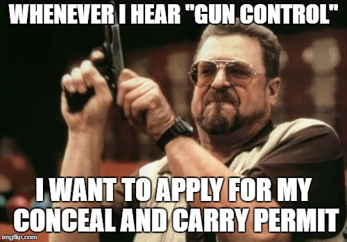 "Makes you WANT a gun | WHENEVER I HEAR ""GUN CONTROL"" I WANT TO APPLY FOR MY CONCEAL AND CARRY PERMIT 