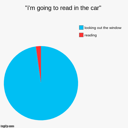 """i'm going to read in the car"" 