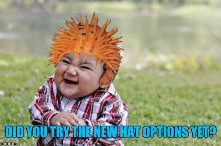 DID YOU TRY THE NEW HAT OPTIONS YET? | made w/ Imgflip meme maker