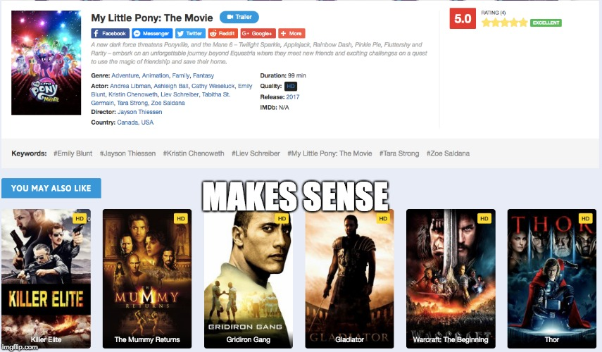makes total sense amiright? | MAKES SENSE | image tagged in mlp,movies,omg so funny | made w/ Imgflip meme maker