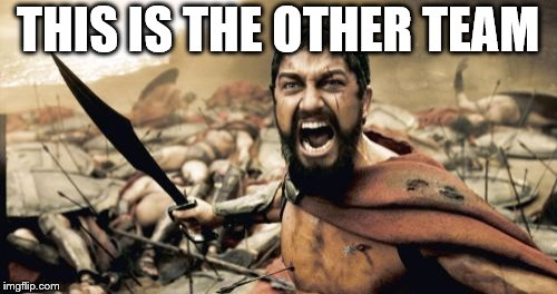 Sparta Leonidas Meme | THIS IS THE OTHER TEAM | image tagged in memes,sparta leonidas | made w/ Imgflip meme maker