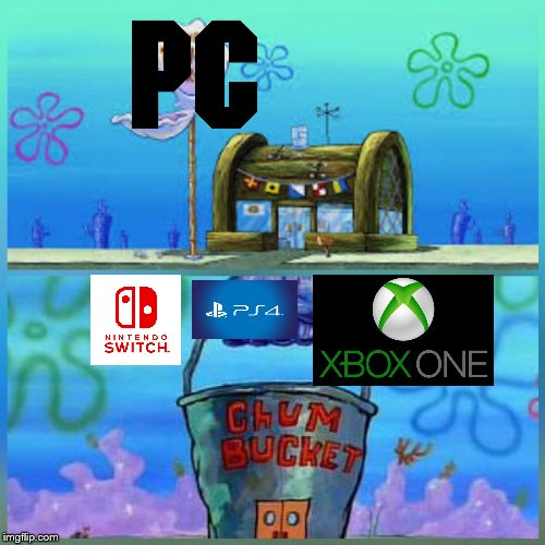 Krusty Krab Vs Chum Bucket Meme Imgflip