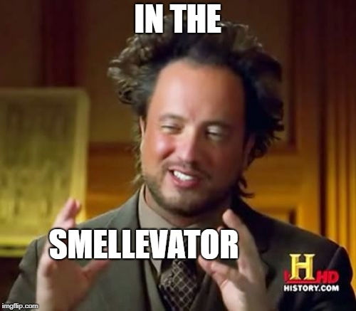 Ancient Aliens Meme | IN THE SMELLEVATOR | image tagged in memes,ancient aliens | made w/ Imgflip meme maker