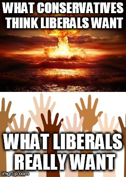 WHAT CONSERVATIVES THINK LIBERALS WANT WHAT LIBERALS REALLY WANT | image tagged in thought and truth,conservatives,liberals,thought,truth,delusions | made w/ Imgflip meme maker