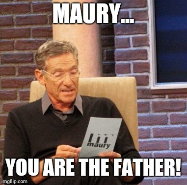Maury Lie Detector Meme | MAURY... YOU ARE THE FATHER! | image tagged in memes,maury lie detector | made w/ Imgflip meme maker