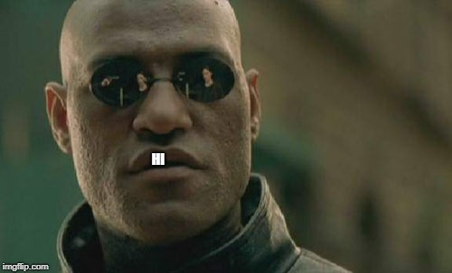 Matrix Morpheus Meme | HI | image tagged in memes,matrix morpheus | made w/ Imgflip meme maker