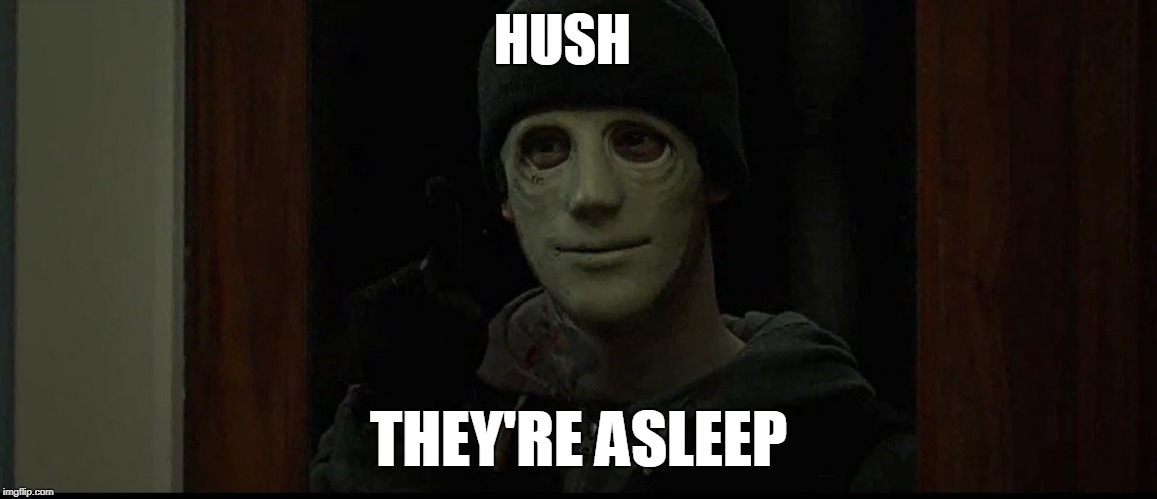 HUSH THEY'RE ASLEEP | made w/ Imgflip meme maker
