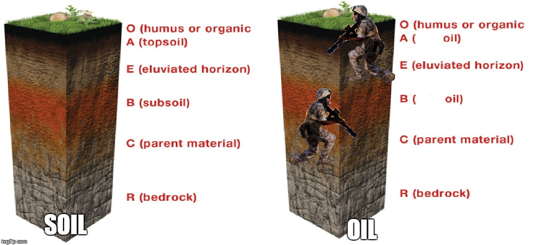 Oil 1 | OIL SOIL | image tagged in us army,find oil | made w/ Imgflip meme maker