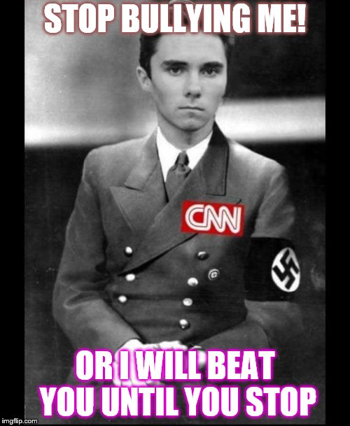 STOP BULLYING ME! OR I WILL BEAT YOU UNTIL YOU STOP | image tagged in david hogg | made w/ Imgflip meme maker