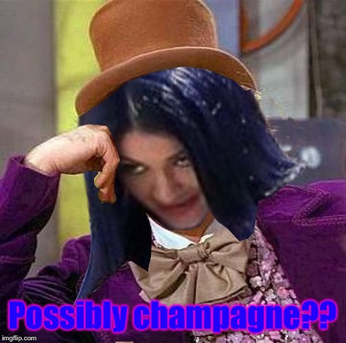 Creepy Condescending Mima | Possibly champagne?? | image tagged in creepy condescending mima | made w/ Imgflip meme maker