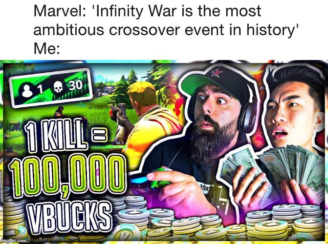 Rice+Keemstar+Fortnite>Avengers 3 | image tagged in ricegum,keemstar,fortnite,memes,funny,marvel | made w/ Imgflip meme maker