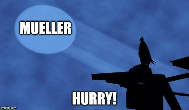 batman signal | MUELLER HURRY! | image tagged in batman signal | made w/ Imgflip meme maker
