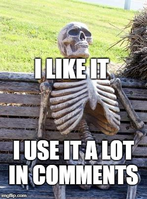 Waiting Skeleton Meme | I USE IT A LOT IN COMMENTS I LIKE IT | image tagged in memes,waiting skeleton | made w/ Imgflip meme maker