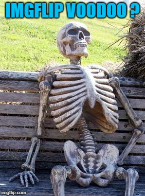 Waiting Skeleton Meme | IMGFLIP VOODOO ? | image tagged in memes,waiting skeleton | made w/ Imgflip meme maker