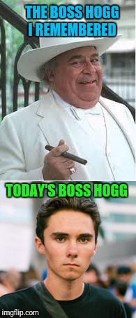 Them Good Ole Days  | THE BOSS HOGG I REMEMBERED TODAY'S BOSS HOGG | image tagged in like a boss,dukes of hazzard,libtards | made w/ Imgflip meme maker