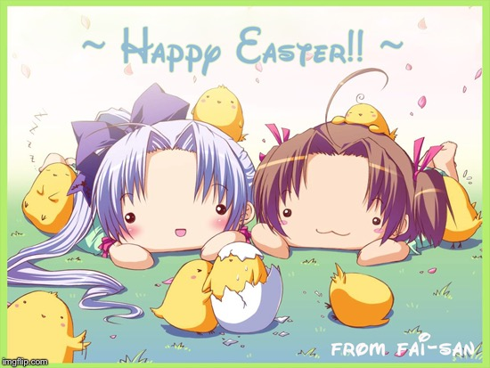 Easter Anime week! (A Dancer_12 and Masqurade_ event!) starts on march 31 and ends on april 8 | H | image tagged in anime,easter,happy,party,fun | made w/ Imgflip meme maker
