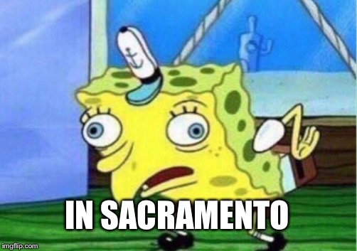 Mocking Spongebob Meme | IN SACRAMENTO | image tagged in memes,mocking spongebob | made w/ Imgflip meme maker