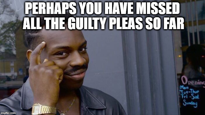 Roll Safe Think About It Meme | PERHAPS YOU HAVE MISSED ALL THE GUILTY PLEAS SO FAR | image tagged in memes,roll safe think about it | made w/ Imgflip meme maker
