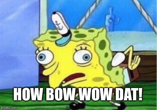 Mocking Spongebob Meme | HOW BOW WOW DAT! | image tagged in memes,mocking spongebob | made w/ Imgflip meme maker