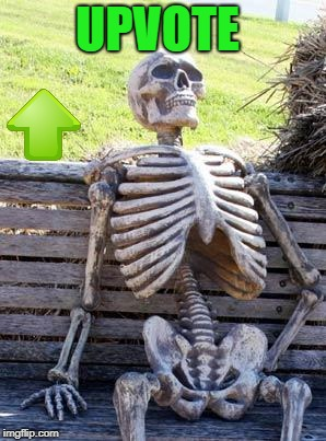 Waiting Skeleton Meme | UPVOTE | image tagged in memes,waiting skeleton | made w/ Imgflip meme maker