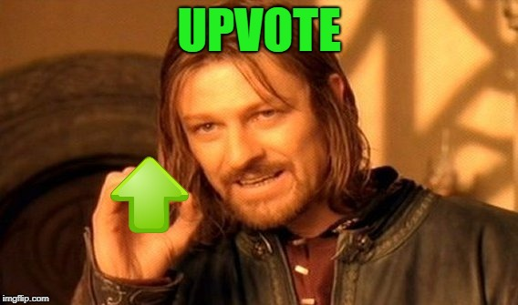 One Does Not Simply Meme | UPVOTE | image tagged in memes,one does not simply | made w/ Imgflip meme maker
