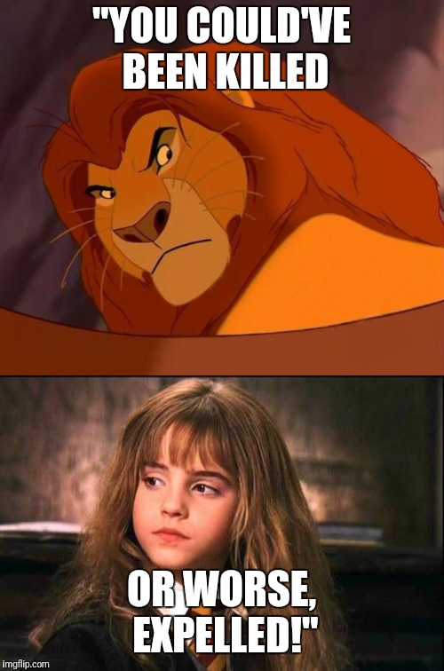 """YOU COULD'VE BEEN KILLED OR WORSE, EXPELLED!"" 