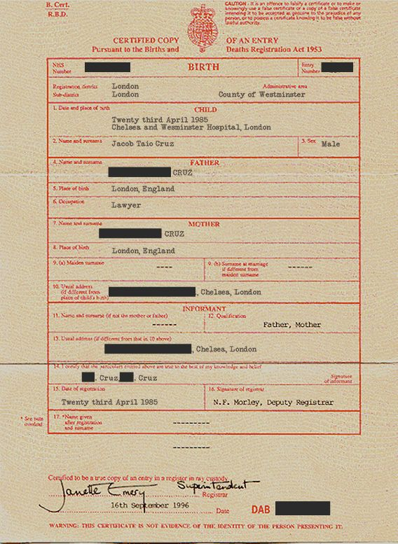 Official Birth Certificate Template from i.imgflip.com