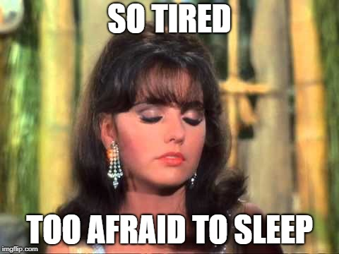 Maryann | SO TIRED TOO AFRAID TO SLEEP | image tagged in maryann | made w/ Imgflip meme maker