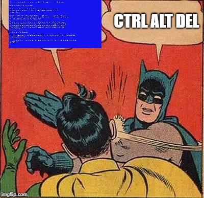 Batman Slapping Robin Meme | CTRL ALT DEL | image tagged in memes,batman slapping robin | made w/ Imgflip meme maker