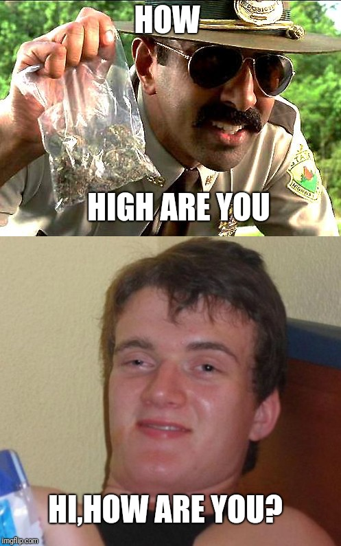 HOW HIGH ARE YOU HI,HOW ARE YOU? | image tagged in 10 guy | made w/ Imgflip meme maker