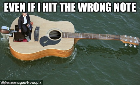 She's always in my boat | EVEN IF I HIT THE WRONG NOTE | image tagged in boat guitar,prince,hair | made w/ Imgflip meme maker