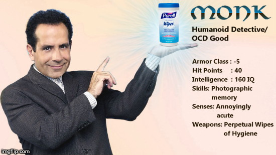 image tagged in monk dd character stats,dd,dungeons and dragons week,tony shalhoub | made w/ Imgflip meme maker