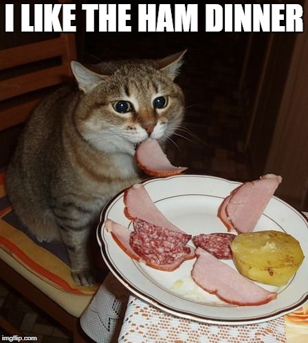 I LIKE THE HAM DINNER | made w/ Imgflip meme maker