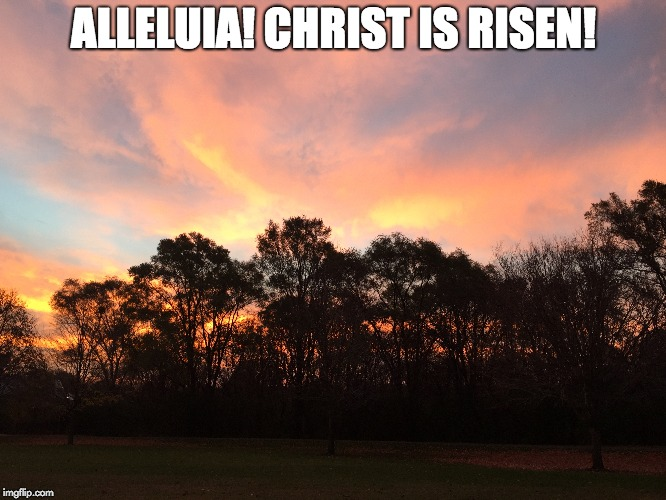 ALLELUIA! CHRIST IS RISEN! | image tagged in resurrection | made w/ Imgflip meme maker