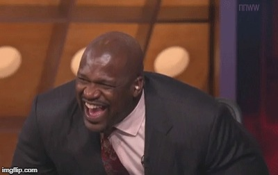 shaq laugh | . | image tagged in shaq laugh | made w/ Imgflip meme maker