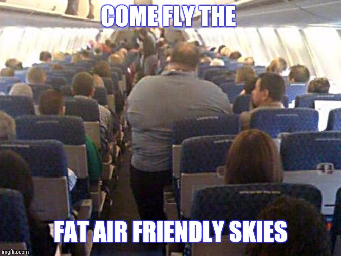 COME FLY THE FAT AIR FRIENDLY SKIES | made w/ Imgflip meme maker