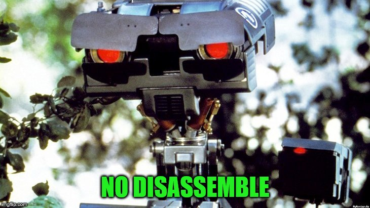 NO DISASSEMBLE | made w/ Imgflip meme maker
