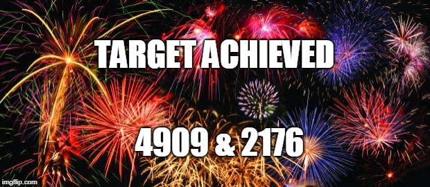 Colorful Fireworks | TARGET ACHIEVED 4909 & 2176 | image tagged in colorful fireworks | made w/ Imgflip meme maker