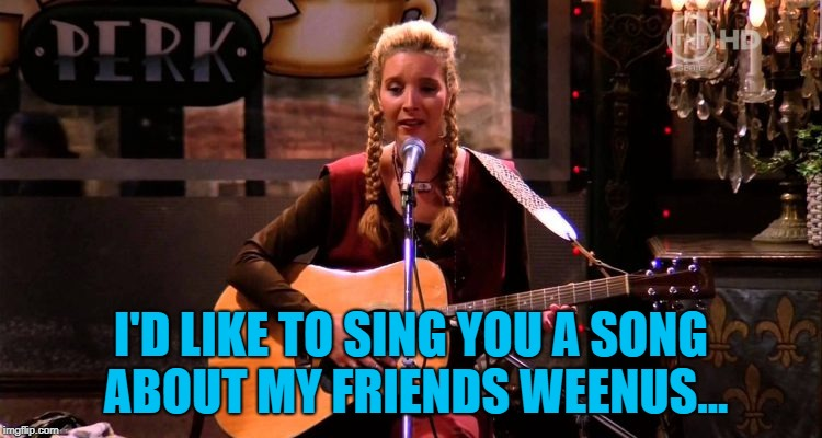 I'D LIKE TO SING YOU A SONG ABOUT MY FRIENDS WEENUS... | made w/ Imgflip meme maker