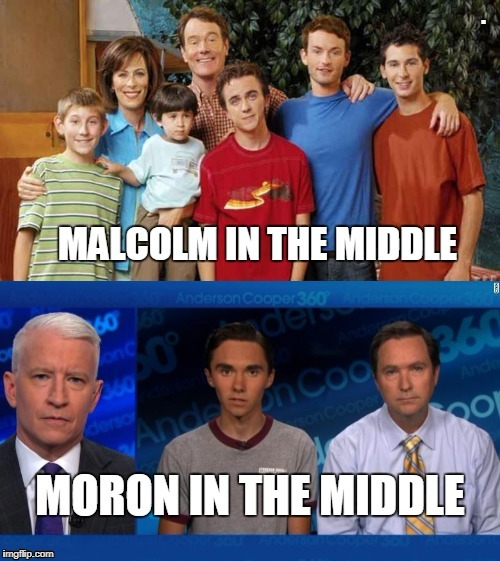 moron in the middle | . | image tagged in moron in the middle | made w/ Imgflip meme maker