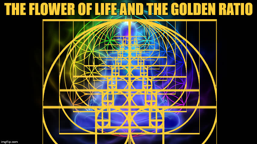 The Flower of Life and the Golden Ratio. | THE FLOWER OF LIFE AND THE GOLDEN RATIO | image tagged in the flower of life,the golden ratio,geometry,meme | made w/ Imgflip meme maker