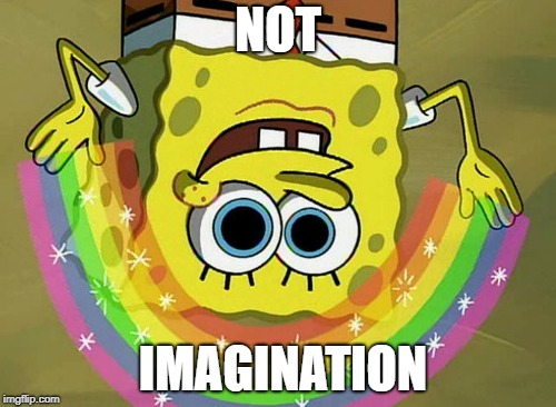 bobegnopS noitanigamI | NOT IMAGINATION | image tagged in memes,imagination spongebob,spongebob | made w/ Imgflip meme maker